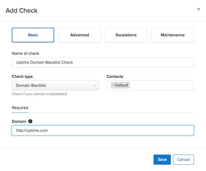 Domain Blacklist Check Basics – Uptime com